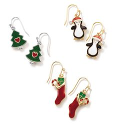 Holiday Dangle Earrings-$4.99