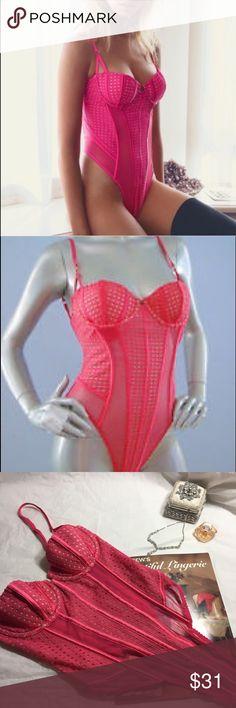 💋Victoria's Secret corset teddy in fuchsia pink 💋Victoria's Secret lace corset thong teddy in fuchsia pink size 34B. Victoria's Secret Intimates & Sleepwear