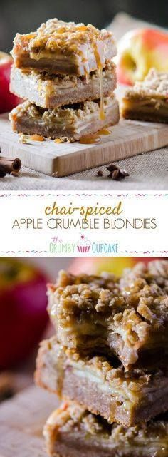 Blondies fall style Blondies fall style! Chai-Spiced Apple...  Blondies fall style Blondies fall style! Chai-Spiced Apple Crumble Blondies combine the flavors of the season with the brownies brown sugared-little sister. Recipe : http://ift.tt/1hGiZgA And @ItsNutella  http://ift.tt/2v8iUYW