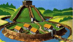 Medieval castles in Europe. Types of castles, their purpose and construction. Castles and knights in medieval ages. Famous castles from medieval times. Medieval Castles In Europe, Medieval Life, Motte And Bailey Castle, Wales Map, Minecraft Medieval, Minecraft Mods, Castle Project, Celtic Nations, My Fantasy World