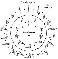 13 best sun  moon salutations images  yoga sequences