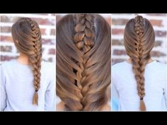 The Tuxedo Braid | Cute Girls Hairstyles - YouTube