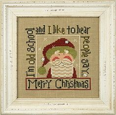 Lizzie Kate Snippet Old School Santa 2016 Christmas Counted cross stitch…
