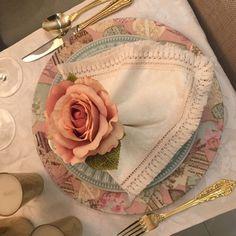 Guardanapo em tecido 100% algodão com renda pompom franja para mesa posta Ted Baker, Tote Bag, Bags, Fashion, Ivory, Napkin, Tejidos, Block Prints, Handbags