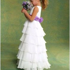 Flower girl dress I like except for the purple.