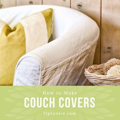 Do you have a couch that's past its prime and a budget too tight for a new one? No problem! There are plenty of ways to revive a worn out couch or sofa and one… Ikea Couch Covers, Sectional Couch Cover, Chair Covers, Drop Cloth Slipcover, Slipcovers For Chairs, Blue Dining Room Chairs, Pink Chairs, Bag Chairs, Pink Sofa