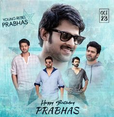 """Read more about Prabhas' look in 'Saaho' revealed on his birthday on Business Standard. """"Baahubali"""" star Prabhas, who turned 38 on Monday, gave his fans a gift -- the first look poster of multi-lingual action film """"Saaho"""". Happy Birthday Photos, Very Happy Birthday, Prabhas And Anushka, Prabhas Actor, Telugu Hero, Actors Birthday, Prabhas Pics, Most Handsome Actors, 38th Birthday"""