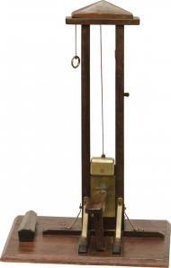 Working antique guillotine cigar cutter