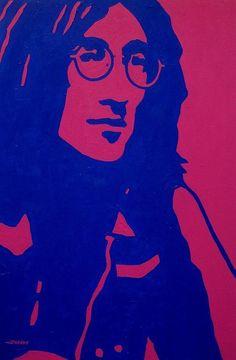 John Lennon by John Nolan Beatles Art, John Lennon Beatles, The Beatles, John Lennon Paul Mccartney, Modern Pop Art, Arte Pop, Soul Music, Yoko, Concert Posters