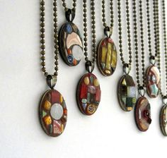 mosaic necklaces - you should do these @Rachel Plank