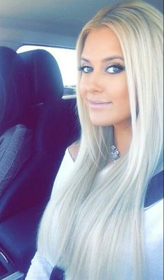 She takes excellent care of her beautiful blonde hair extensions !