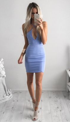 blue mini dress kirsty fleming is wearing
