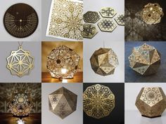 Cozo Sacred Geometry Lights and Sculptures | IKEA Decoration