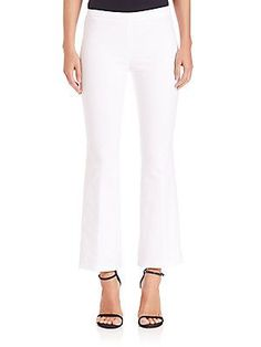 Emilio Pucci Stretch-Cotton Bootcut Jeans - White - Size 4