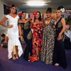 Polynesian Design dress - E'vana Couture Design