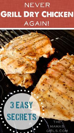 3 Steps Never Grill Dry Chicken Again! Never Grill Dry Chicken Again - 3 easy secrets Grilling Recipes, Cooking Recipes, Healthy Recipes, Grilling Tips, Healthy Grilling, Cooking Tips, Frango Chicken, Turkey Recipes, Recipes Dinner