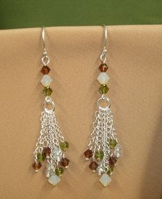 Crystal & Gemstone Beaded Dangle Earrings