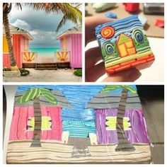 Cool little polymer house by ~ Lisa_Gauthier_cane_inspiration