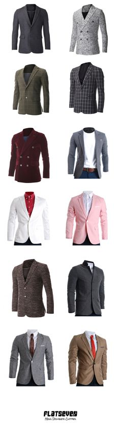 Men's #Blazer #Shop #FLATSEVEN https://www.flatseven.net