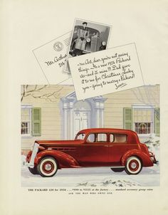 1936 Packard 120 Classic Car Ad Vintage Automobile by AdVintageCom