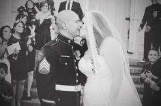 #plussize #bride #military {Real Plus Size Wedding} Military Vow Renewal by Brianna Noelle Photography   Pretty Pear Bride   http://prettypearbride.com/real-plus-size-wedding-military-vow-renewal-by-brianna-noelle-photography/