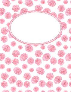 Free printable pink binder covers in JPG and PDF format. Binder Cover Templates, Binder Covers, Notebook Covers, Planning And Organizing, Planner Organization, Diy Album Design, Agendas Diy, Monogram Wallpaper, Daily Planner Printable