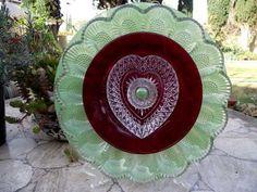 Glass Garden Art Flower Home Decor Garden by Peachsvintageglass, $44.95