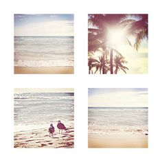 Beach Wall Decor Collage Set of 4 10x10 by RedFlowerPhotography, $40.00