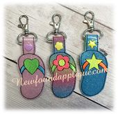 Items similar to In The Hoop Flip Flop Key Fob Embroidery Machine Design Set on Etsy Applique Embroidery Designs, Machine Embroidery Applique, Free Design, Design Set, Cat Key, Key Fobs, Machine Design, Hoop, Unique Jewelry