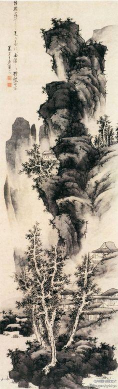 """Ming Lan Ying, imitation Plum taoïste Paysage Yiqu"""" on ArtStack #ming-lan-ying #art"""