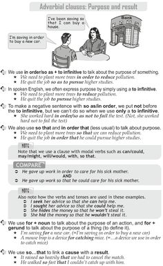 Grade 10 Grammar Lesson 47 Adverbial clauses Purpose and result (1)