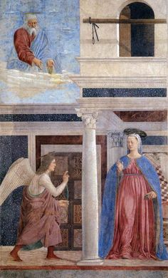 Piero della Francesca: Annunciation (1452-66)Fresco, San Francesco, Arezzo