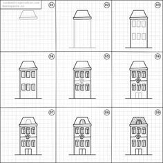 """180 Likes, 2 Comments - Random things to Draw (@randomthingsdraw) on Instagram: """"How to draw a house."""""""