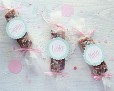 Personalized glittered labels/ tags by Icing Designs