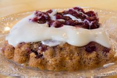 Chocolate Cranberry Herman Cake with Cranberry topping