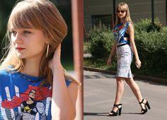 diy superhero tops for girls | Superhero top - Spódnica Pretty Girl, Kolczyki H, Top DIY ...