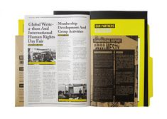Brochure design - Amnesty International Hong Kong Annual Report 2010 on the Behance Network Brochure Layout, Brochure Design, Branding Design, Design Poster, Book Design, Graphic Design, Graphic Art, Editorial Layout, Editorial Design