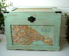 Wooden chest, Wooden box, Home Decor, French decor, storage boxes,  Country Chic by DecoLavka on Etsy
