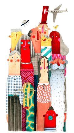 Illustration originale de Marion Arbona - Les grands   Oeuvres   Galerie Robillard