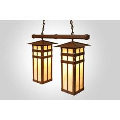 Steel Partners San Carlos Double Anacosti Light Pendant Finish: Rust, Shade / Lens: Amber Mica