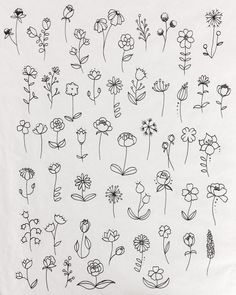 40 Easy Things to Draw for Your Bullet JournalFlower Circle Bullet Journal Doodle drawing doodle Things to Ways to Draw Simple Ways to Draw Flowers // flowers drawing // Flower drawing, floral drawing Doodle Drawings, Tattoo Drawings, Body Art Tattoos, Small Tattoos, Tatoos, Flash Tattoos, Small Flower Tattoos, Sketch Tattoo, Tattoos For Women Small