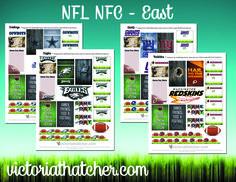 NFL NFC East teams planner printable FREE
