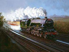 Railway Paintings by John Austin FGRA... Stanier pacific 'Princess Anne'...17