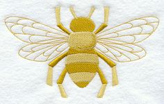 Machine Embroidery Patterns Machine Embroidery Designs at Embroidery Library! Sewing Machine Embroidery, Machine Embroidery Applique, Silk Ribbon Embroidery, Embroidery Thread, Bee Design, Bees Knees, Couture, Needlework, Sewing Projects