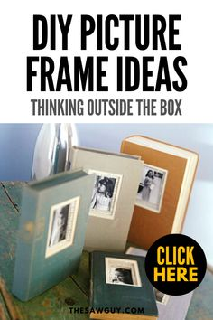 Looking for a unique way to display your favorite memories? Check out our list of DIY picture frame ideas for out-of-the-box ideas. Have fun! Frame Crafts, Diy Frame, Upcycled Crafts, Easy Diy Crafts, Woodworking Books, Thinking Outside The Box, Do It Yourself Home, Photo Craft, Diy Wood Projects