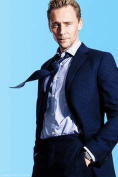 Tom Hiddleston-that tie though...only for Tom would the wind blow in such a perfect way! #unfair