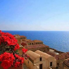 Santorini, Mykonos & Corfu rank among the most popular romantic places in Greece but don't forget to pay a visit to the rest of the Greek Island >> Monemvasia Greece, Karpathos Greece, Most Romantic Places, Beautiful Places, Amazing Places, Santorini, Places In Greece, Medieval Castle, Greece Travel