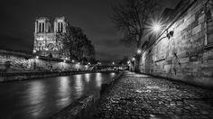 La Seine Notre Dame, Paris, Travel, Control Panel, Black N White, Places, Photography, Color, Viajes