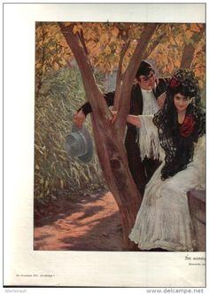 """Im sonnigen Süden  - Druck, entnommen  aus """"die Gartenlaube"""", 1910"""