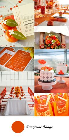 """what a cute placecard idea.see the corner photo of the orange with a white """"flower"""" pinned through the name leave Tangerine Wedding, Orange Wedding, Wedding Colors, Party Decoration, Wedding Decorations, Orange Party, Wedding Renewal Vows, Wedding Posters, Wedding Officiant"""